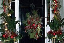 Рождественские входные двери