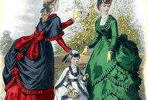 Victorian Fashion Prints / Victorian fashion comprises the various fashions and trends in British culture that emerged and grew throughout the reign of Queen Victoria, from June 1837 to January 1901. Before the general use of colour printing these prints were hand-coloured.