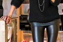 Vinyl leggins outfits