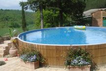 Crestwood Pools - MAM Member / The CRESTWOOD above ground swimming pool will enhance any home, wood deck or existing landscaping. Its unique, natural look is a perfect compliment to log cabins or any backyard setting. CRESTWOOD's design is so original that it is protected by U.S. Patent #4974266, and other patents pending worldwide.