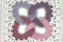 Čtverce / Háčkované a pletené čtverce