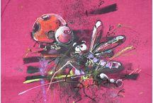 tričkování dle Aptáka a Aladine / Trička stamp t-shirt