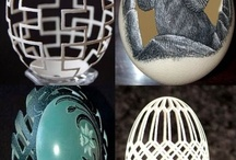 ART - Decorative Eggs / Painted, carved eggs / by Bonka Perry