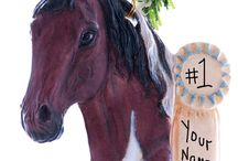 Horse Christmas Ornaments / A collection of my personalized Horse Christmas ornaments that I make and paint myself.  My full line of Christmas ornaments can be seen at Christmaskeeper.com