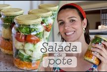 Vegetais para a semana toda + salada de pote
