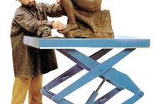 Sollevatori a forbice (pantografo) / Tavole elevatrici a pantografo, piattaforme di sollevamento a forbice.