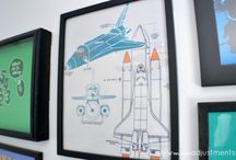 Kids: T- Shirt Gallery for a boy's Bedroom