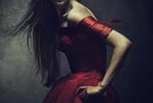 Dramatic dress shoot
