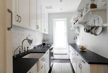 Kempt Kitchens ™ / Organized, Clean Lines, Ideas for a Small Galley Kitchen. / by Megan Galvan