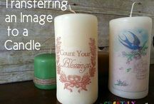 transfering image to candles