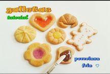 galletitas en porcelana