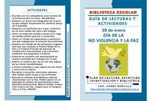 Día de la Paz / Libros que tenemos disponibles y recursos para trabajar el Día de la Paz y la No Violencia.