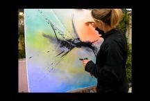 Peinture-Abstraite-Champonette-Villeneuve-Tolosane