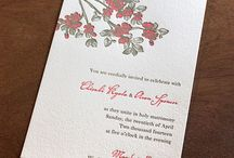 {invitation design} chisaki / Chisaki is the ideal spring wedding invitation design, with South Asian appeal. / by Invitations by Ajalon