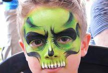 Face painting doodskoppen