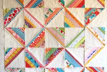 String Quilts / Ideas, patterns, and inspiration for string quilts using yardage or precut jellyrolls.