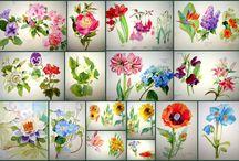 FLOWER PAINTING TECHNIQUES