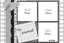 scrapbooking-4x4 photos / ideas for creating pages using 4x4 photos