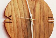 Резьба по дереву: часы