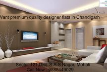 Want premium quality designer flats in Chandigarh? / The interior design, Living Room Design, Bedroom Design and luxurious #apartments in #Mohali. Call Now : 9888449029