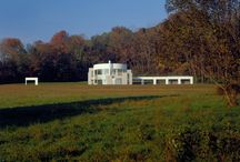 RM 1989 Grotta Residence Harding Township, New Jersey 1984 - 1989 / RICHARD MEIER 1989 - The Louis W. and Sandra Grotta, Jr. House, 46 Dicksons Mill Road, Green Village NJ.  Commissioned 1984.  Seven acres.  Won a 1985 AIANY Projects Award.  Won a 1990 AIANY Merit Award.  Still owned by the Grotta as of 2012.