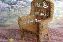 Wickermania in miniature / Miniature wicker furniture.