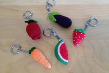 Crochet Keyrings and Key Covers / Crocheted Keyrings and covers / by Bea Leighton