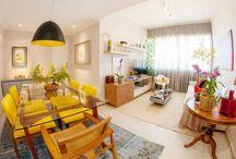 Decoração salas de estar e jantar em apartamentos (décor rooms in apartments)