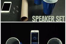 Créer vous-même votre objet pub high-tech / Haut-parleur, support de téléphone à créer soi-même