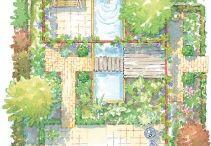 Plattegrond tuin