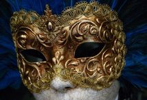 venetian masks / colourful masks from the carnival of Venice