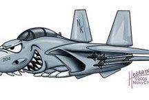aviões militares estilizados