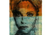 Beautiful artwork/ mixed media/ word art