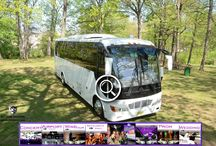 (NJ) PARTY BUS RENTAL (32 Passenger) / This Party Bus can accommodate 32 passengers very comfortably. It is equipped with a bar, Big Screen TV and 2 additional front post TV's, AM/FM/CD, DVD player, I- Pod connection, strobes, laser lights and fiber optic lighting, wood flooring, 4 Recessed bars and VIP Area with two tables. Seat belts, hostess seat, air conditioning, heat and lavatory.    #partybus #njpartybus   TRULIMO.COM Tel: 908.523.1700