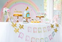 Unicorn party 3rd bday