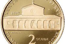 Cod. 294: moneta oro PROOF 2 scudi «architettura RSM» 2017