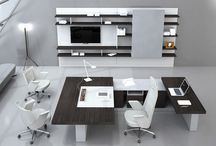 brite blue office ideas