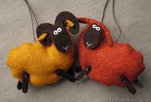tecido pingente ovelha
