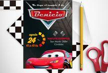 Fiesta Cars / Creá un cumpleaños de Cars súper divertido y original con nuestro kit de diseños imprimibles. Incluye invitación, decoración de fiesta, etiquetas y cajas para el candy bar :)