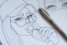 tumblr women draw