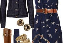Navy dresses outfits