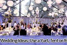 Unique Wedding Ideas: Use a Yurt, Tent or Marquee / More couples are using tents and the like for their wedding because they are versatile. And, while it may not seem elegant, tents and marquees can be very sophisticated – and pull off the fanciest wedding imaginable.  http://www.kimberleyandkev.com/unique-wedding-ideas-use-yurt-tent-marquee/