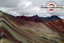 colorfull mountain / Is a place located in the South of Cusco City that show us a montain with diferent natural colors .
