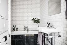 Baños Blanco y Negro / Black & White Bathroom