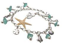 Sea Glass Charm Bracelets