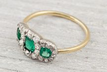 Vintage Wedding and engagement rings