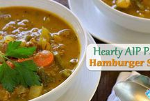 Healthy crockpot hambuger soup