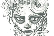 dead skull tattoo