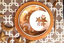 Crescent Creations - islamic party supplies / Gold and Silver Moon and Star Islamic Party Supplies and Decorations