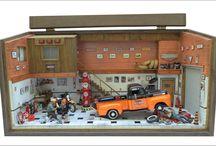 Diorama Oficina Harley Davidson - Ford